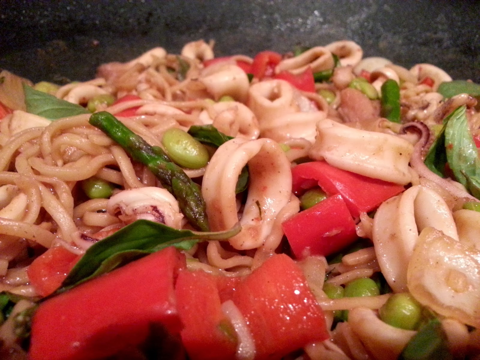 Slimming World Delights: Five Spice Squid with Noodles