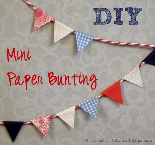 that cute little cake craft how to make mini paper bunting. Black Bedroom Furniture Sets. Home Design Ideas