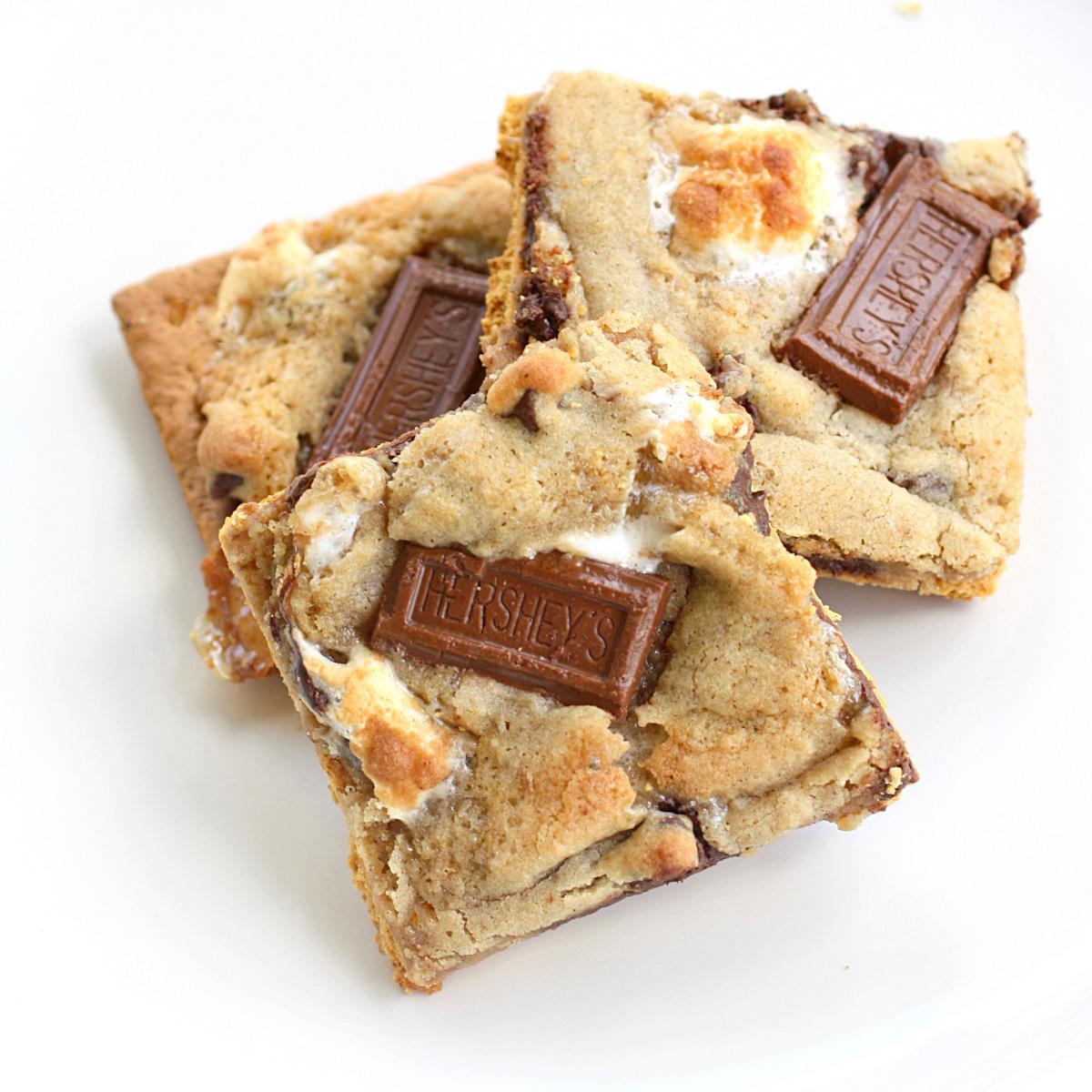 s'mores cookies bars chocolate graham cracker
