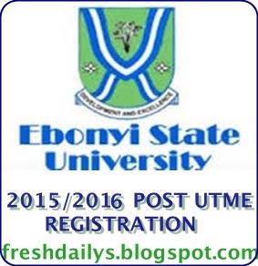 Ebonyi State University EBSU 2015/2016 Post Utme Starts 14th July