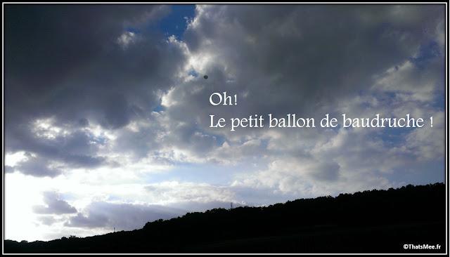 Baptême de montgolfière ballon baudruche hélium test vent