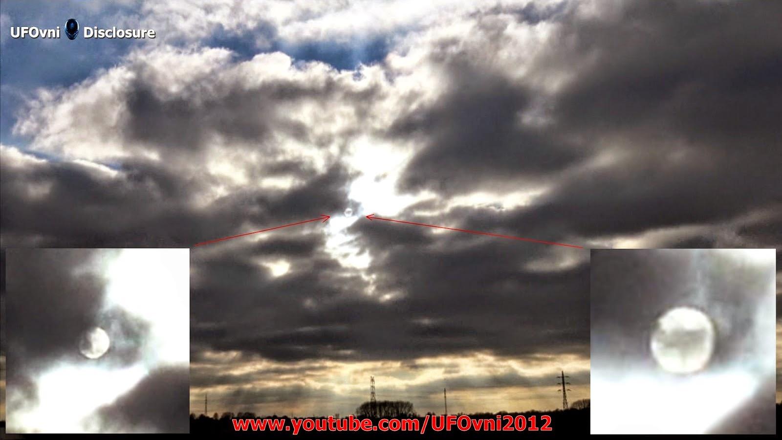 Géant Sphère, deux soleils (Nibiru, Planète X?) Dans le ciel, coucher de soleil, le 22 mars 2015