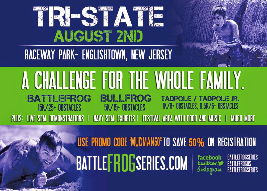 Want to get in on the hottest new OCR of 2014? Coming to NJ on August 2nd!  Use code MUDMAN50