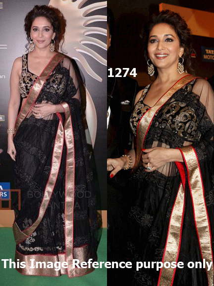 Madhuri Dixit Jhalak Dikhla Jaa saree collection