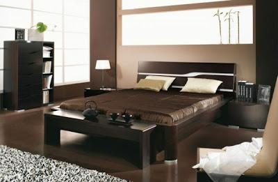 habitación matrimonial beige y marrón