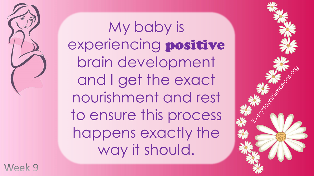 Positive Pregnancy Affirmations First Trimester Week 9