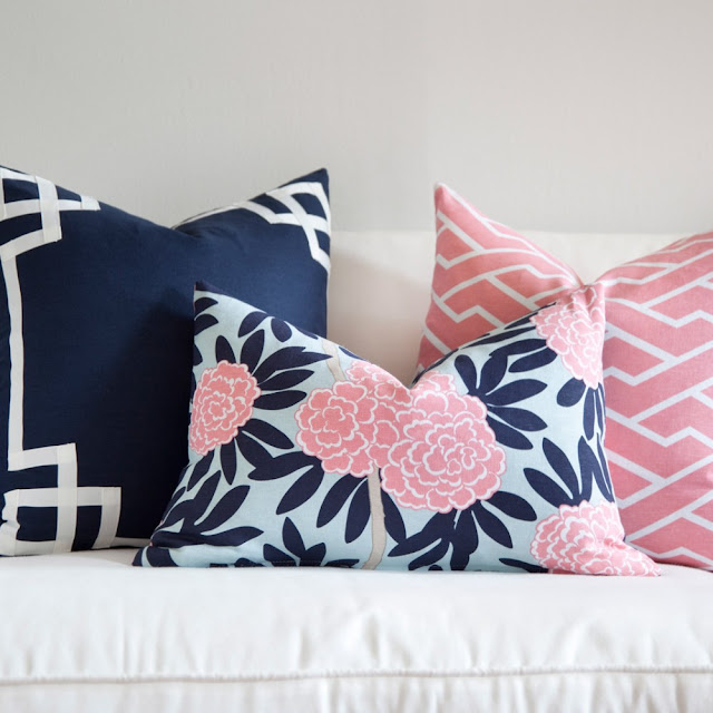 Cushion Colour Combinations: Jess At Home: Navy + Pink