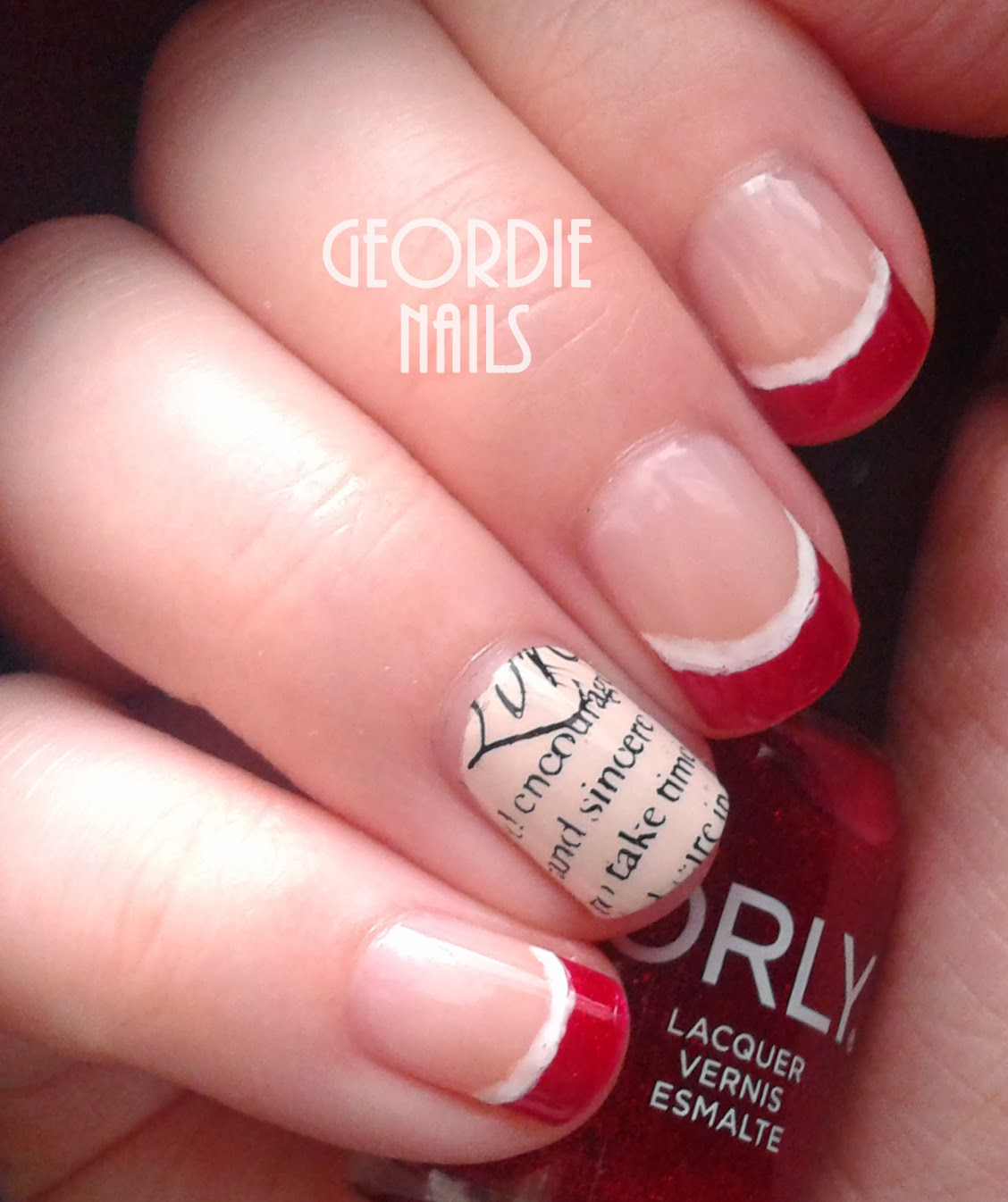 Geordie nails letter to santa manicure letter to santa manicure spiritdancerdesigns Images