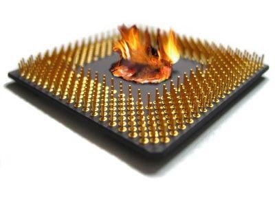 إرتفاع درجة حرارة الحاسوب