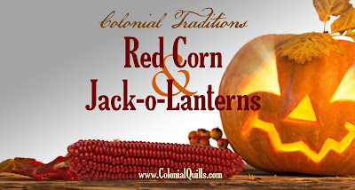 http://colonialquills.blogspot.com/2015/10/red-corn-for-kiss-and-jack-o-lanterns.html