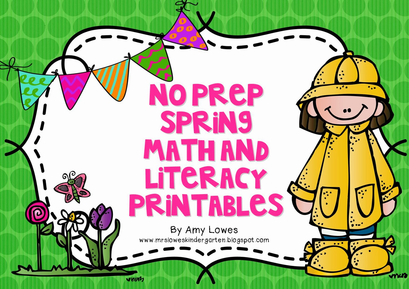 No Prep Spring Math and Literacy Printables