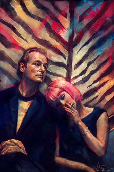 Alice X. Zhang alicexz deviantart pinturas de filmes séries Lost in Translation