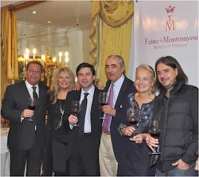 En la presentación del vino coupage de Malbec y Touriga Nacional de Fabre Montmayou