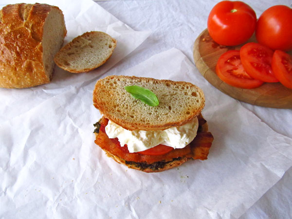 Burrata Cheese BLT Sandwich