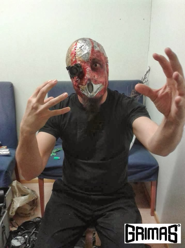 Cyborg Man make-up FX: Ari Savonen. The Champions of Space.