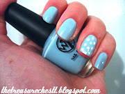 So here we go, baby blue with an accent polka dot ring finger in. (polka dot baby blue )