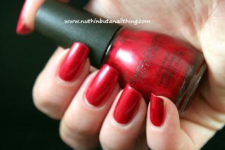 Sinful Colors Sugar Sugar red nail polish