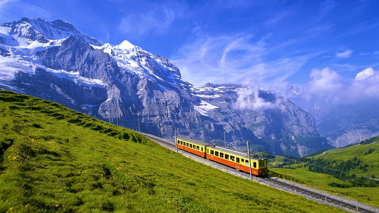 Train in the Landscape