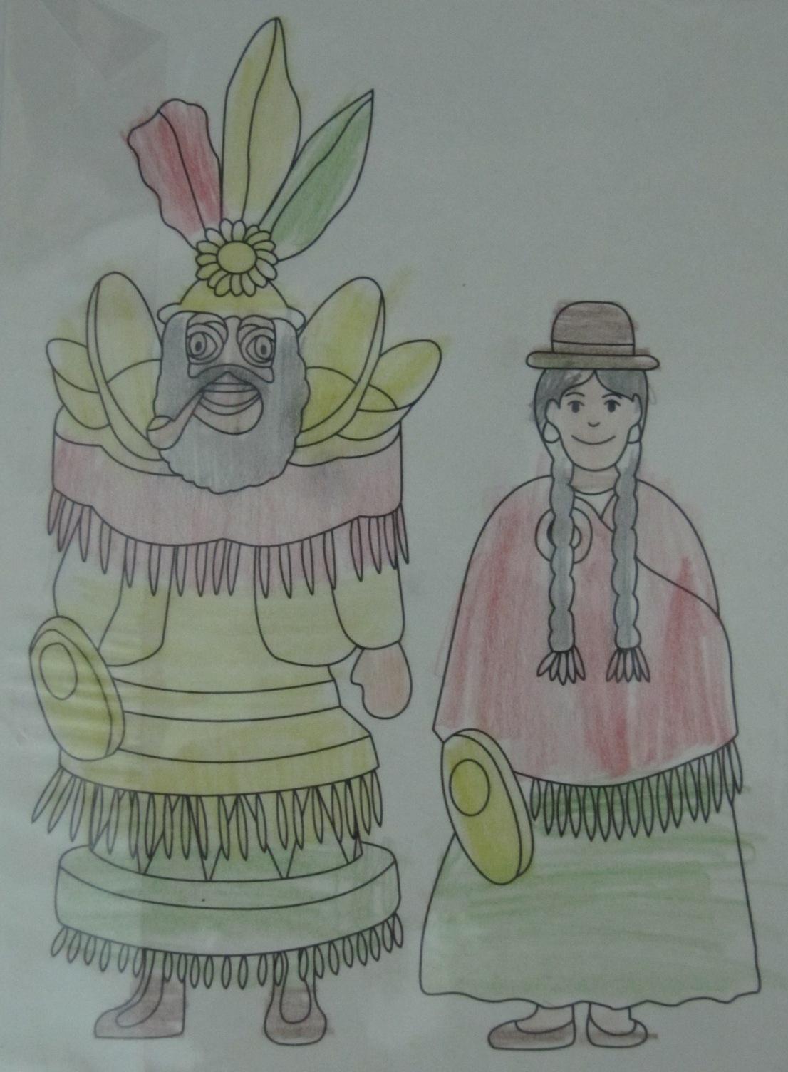 El Blog de MA: Dibujo de la danza de la morenada ,Bolivia ...