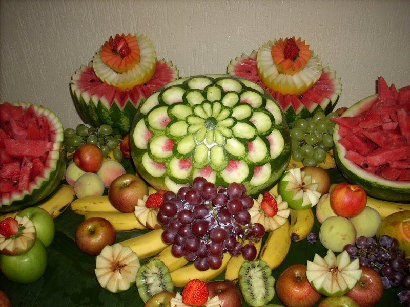 Mini Delicas Mesa de frutas simples -> Decorar Frutas Simples