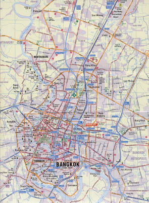 Political map of Bangkok