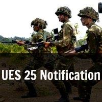 UES 25 Notification University Entry Scheme