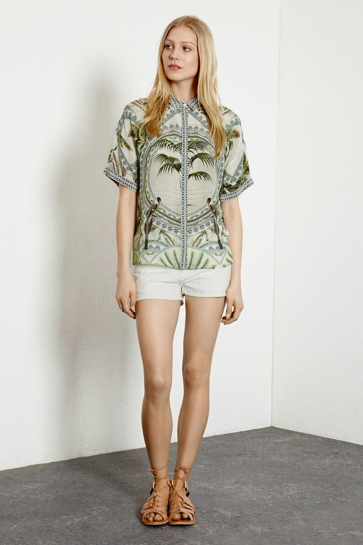 warehouse palm tree shirt, palm tree ladies shirt,