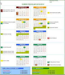 CALENDARIO ESCOLAR CÁDIZ 2012-2013