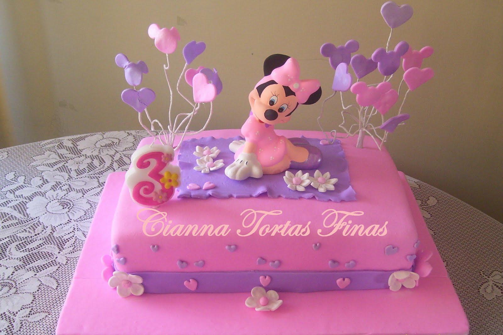Tortas decorado con la cara de Minnie - Imagui