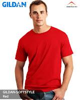 Kaos Polos Gildan Soft Style red