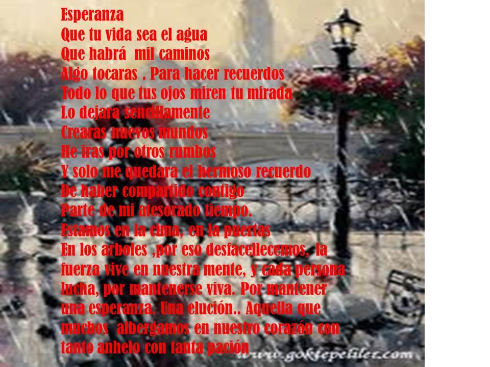 ===Poremas a flor de piel=== Poema+esperanza