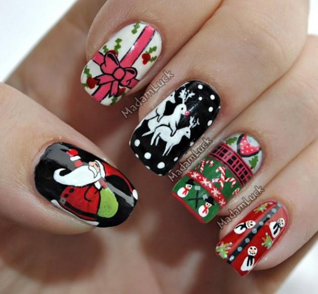 Los 10 mejore diseños de uñas | Navidad a la moda