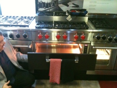 Cream Kitchen With High End Viking Stove And Range Hood Victoria
