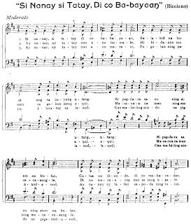 Si Nanay, Si Tatay Di Ko Babayaan - Filipino: Bicolano Folk Song Sheet Music