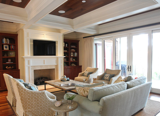 Greensboro interior design window treatments greensboro for Tv placement in living room