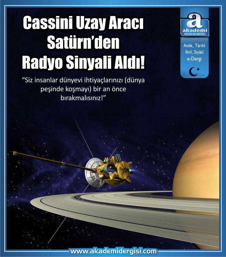 Cassini Uzay Aracı Satürn'den radyo sinyali aldı