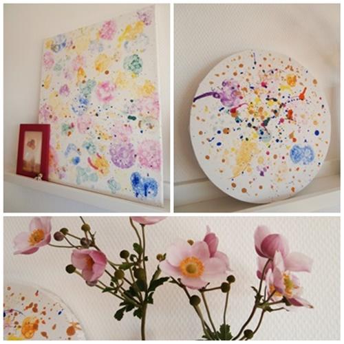 Bilder DIY Wallart Wandschmuck Farbe Blumen bunt Dekoration
