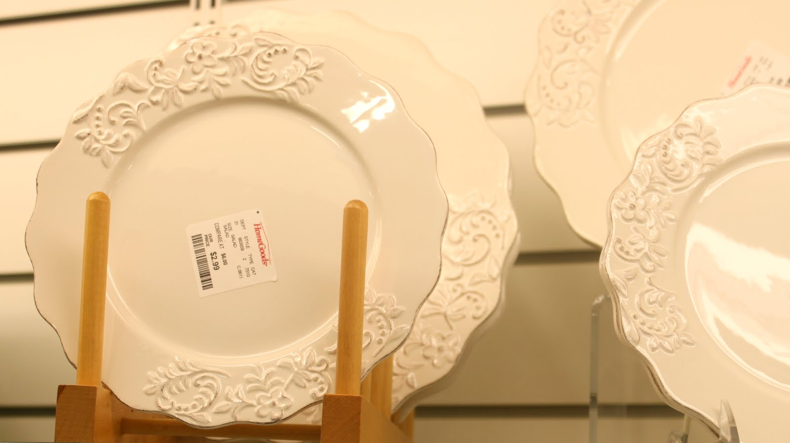 I love nice white plates they make your food look good. I\u0027m all about the nice shapes to show off the white plates. you need something to give your plates ... & Designed by Chance: A Walk Through HomeGoods