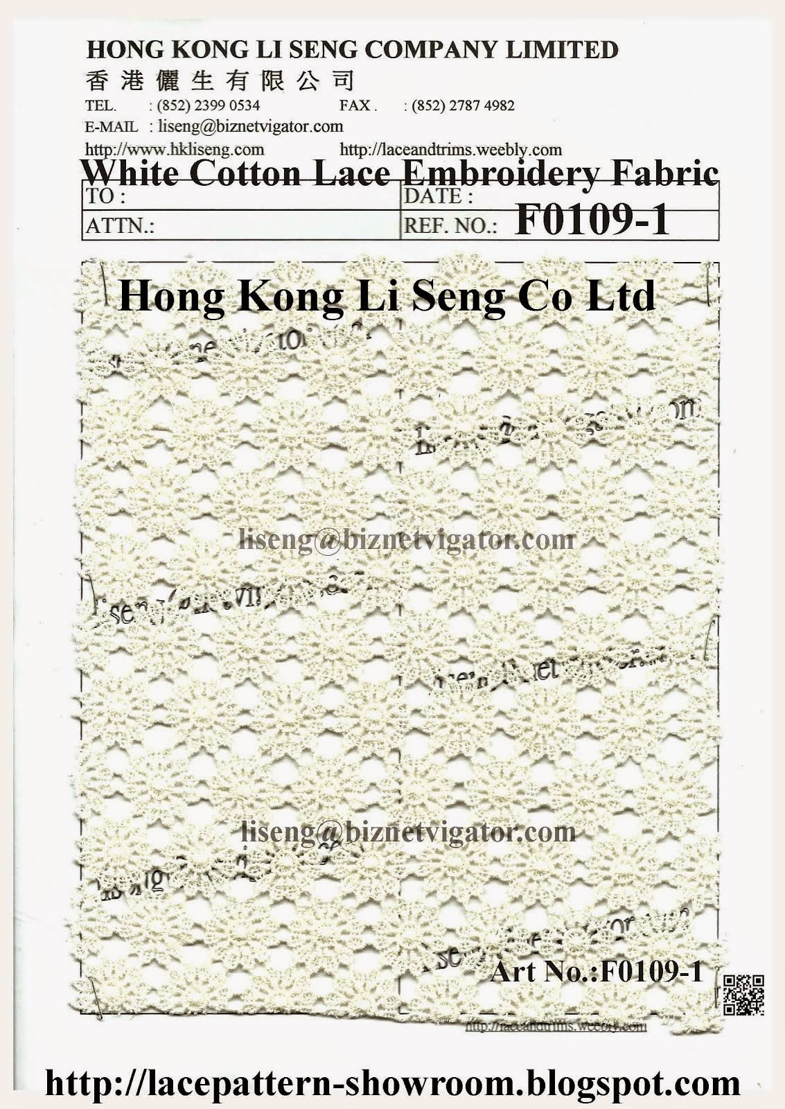 White Cotton Lace Embroidery Fabric Factory - Hong Kong Li Seng Co Ltd