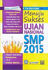 toko buku rahma: buku MENUJU SUKSES UJIAN NASIONAL SMP 2015, pengarang tim studiguru, penerbit pustaka grafika