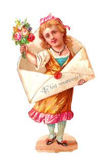stock girl vintage image