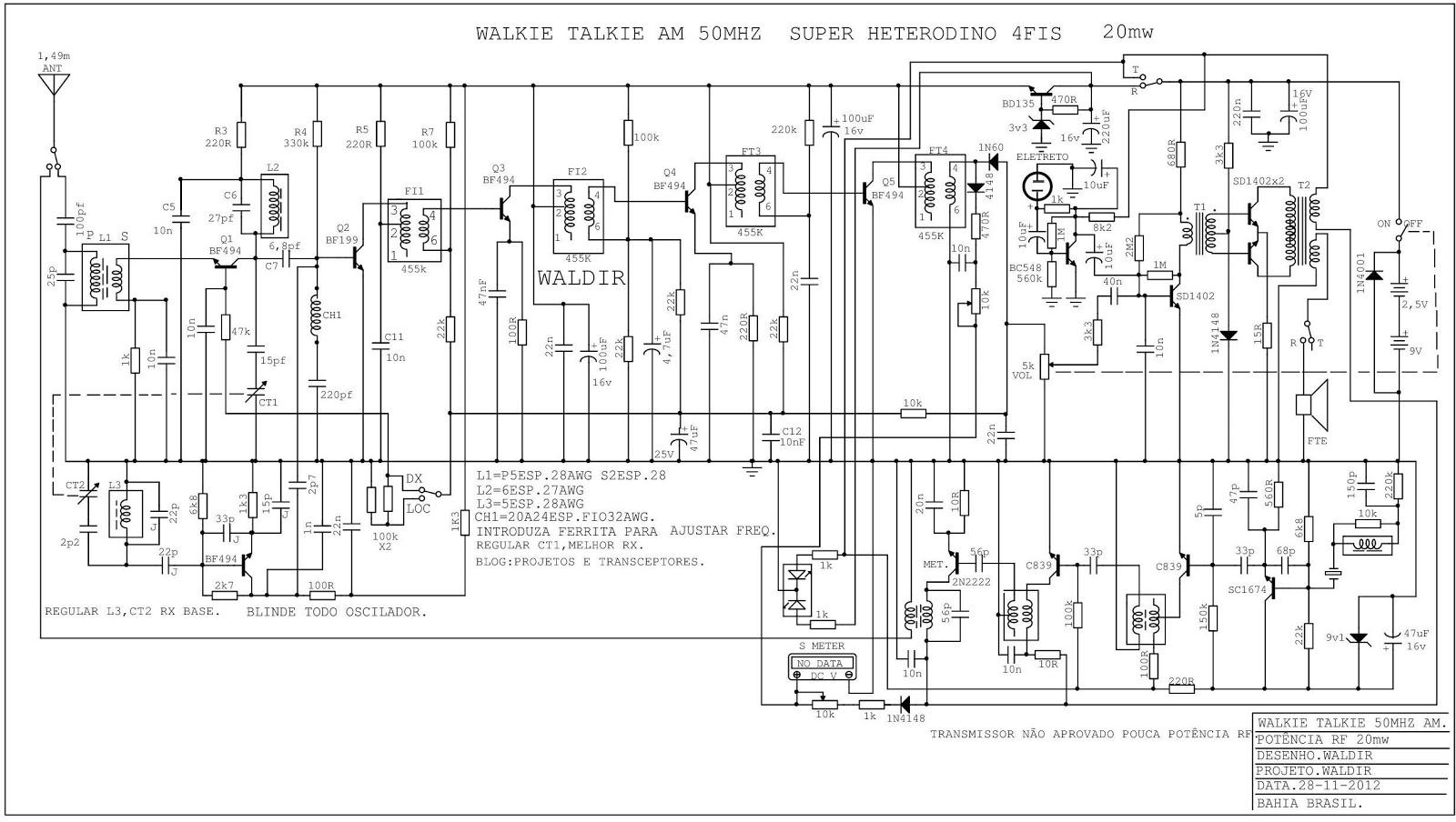 projetos e transceptores   esquemas continua u00e7 u00e3o walkie