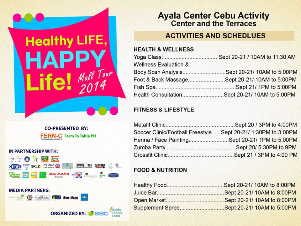 Healthy Life, Happy Life Mall Tour 2014 Kicking Off in Cebu ...