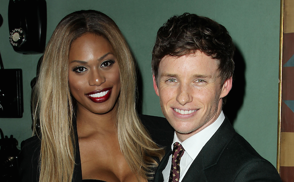 Eddie Redmayne and Laverne Cox