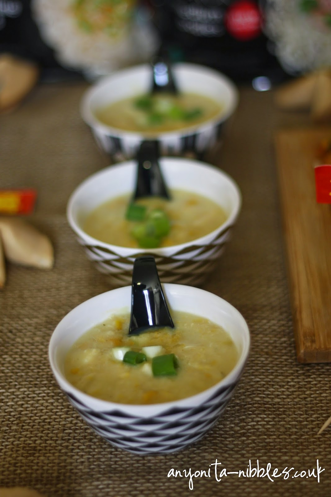 Chicken and sweetcorn soup from Anyonita-nibbles.co.uk