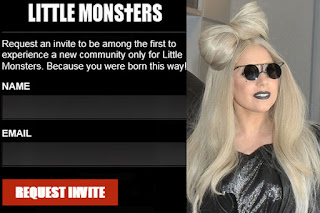 Lady Gaga social networking