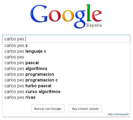 busqueda de carlos pes en google
