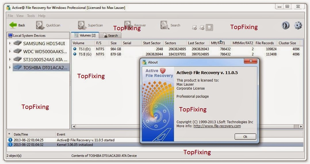 Free data recovery software Active@ UNDELETE