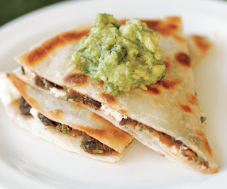 Black Bean and Goat Cheese Quesadillas Recipe | Healthy Vegetables Recipe