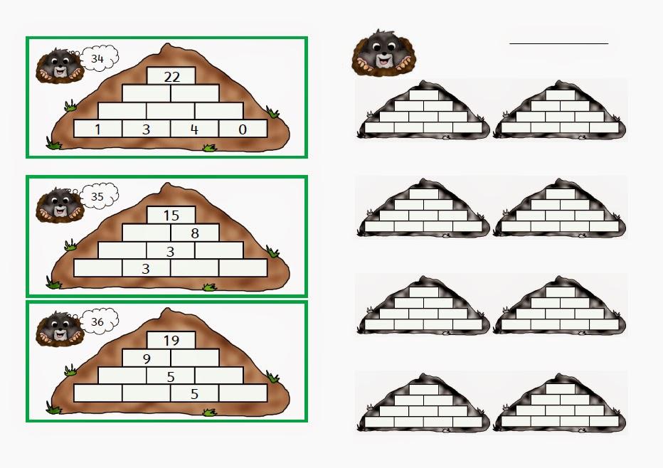 Rechenpyramide 1 klasse